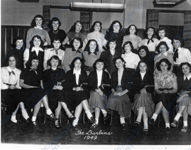 BONUS MYSTERY PHOTO:  WHO ARE THESE LOVELY GALS WITH THEIR LETTER SWEATERS AND SADDLE SHOES.....we found this photograph in our Temple Emanuel, Paterson collection.  Help us name identify them please!!!