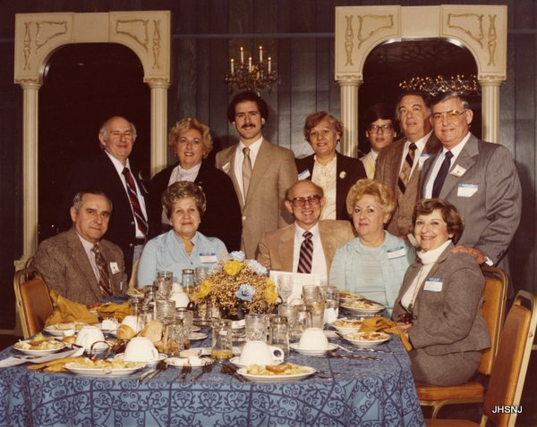 Bonus Photo #2: November 19, 1981...50th Anniversary Dinner, most likely of the boy scouts..seated: l-r:   ?., ?.,  Norman Goodman, Estelle Goodman and ?.  Standing l-r:  Mr. Stave, Sally Stave, ?., ?., ?., ?. and Leon Rosenbloom.  Please help us name the rest!
